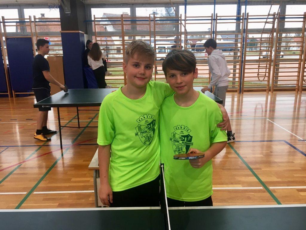 Tim in Jaka sta se uvrstila na državno tekmovanje.